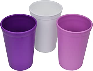 product image for Re-Play 3pk - 9oz. Drinking Cups | Made in USA from Eco Friendly Heavyweight Recycled Milk Jugs - Virtually Indestructible | For all ages | Purple, White, Amethyst | Violet