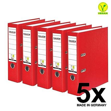 25 x Ordner A4 5 cm PP Papier Rot Aktenordner Briefordner Schmal