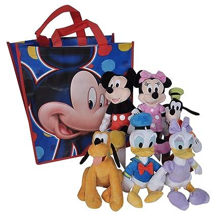 Amazoncom Disney 11 Plush Mickey Minnie Mouse Donald Daisy Duck