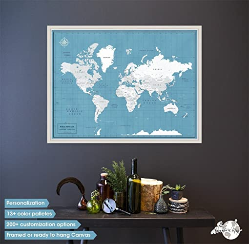 Framed push pin world map multiple customization personalization framed push pin world map multiple customization personalization options pin adventure map gumiabroncs Images