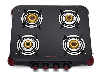 7d932a8fd Buy Butterfly Signature Glass 4 Burner Gas Stove