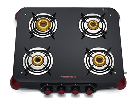 b91162c7102 Buy Butterfly Signature Glass 4 Burner Gas Stove