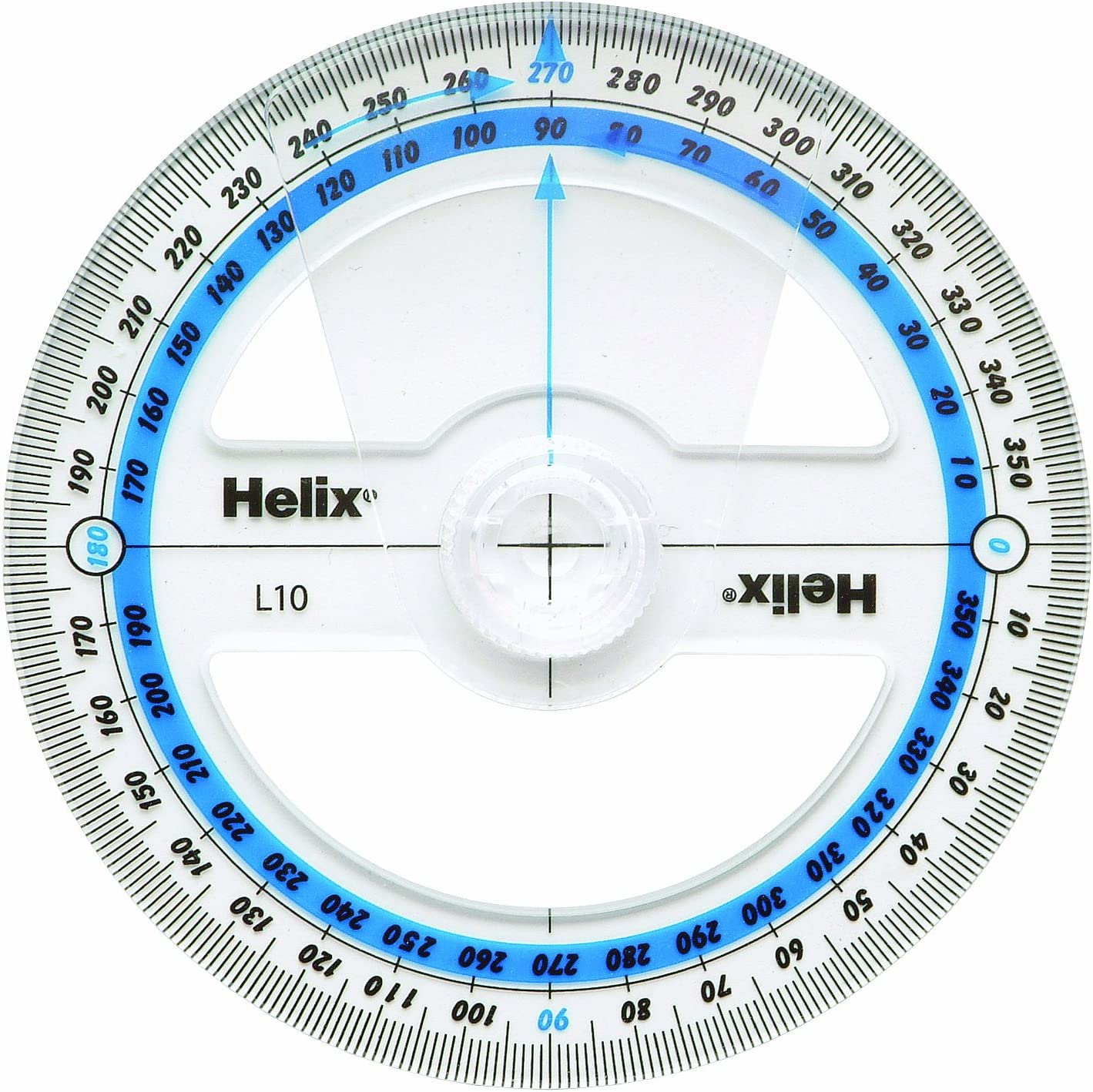 Brand New Helix 10cm 360 Degree Angle Measure L10 Great For School