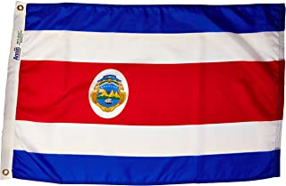 product image for Annin Flagmakers Model 191832 Costa Rica Flag Nylon SolarGuard NYL-Glo, 2x3 ft, 100% Made in USA to Official United Nations Design Specifications