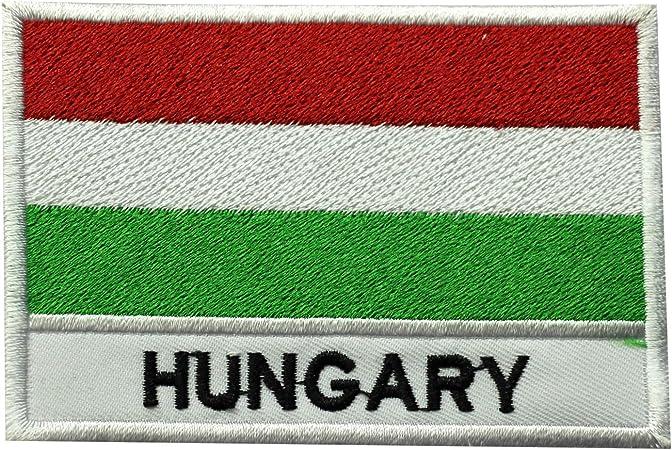 Parche bordado con la bandera de Hungría para coser o planchar, para ropa, etc.: Amazon.es: Hogar