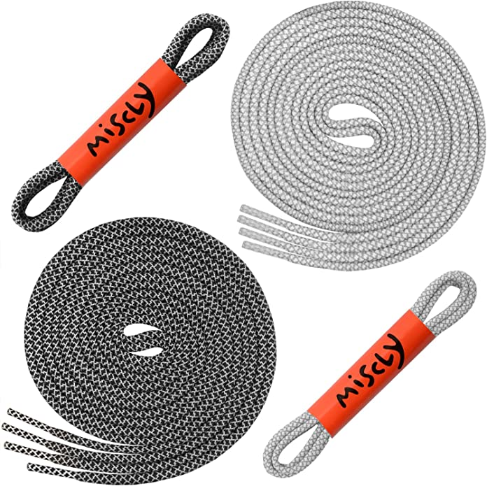 "IM Active Reflective Shoe Laces Flexhold Active 1 Pair 36/"" Grey"