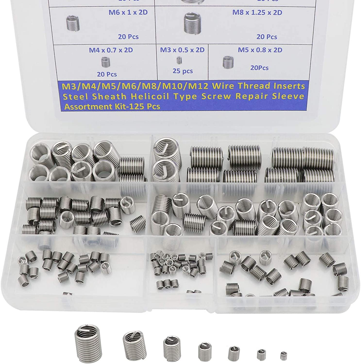 M6121.5 Metric Anti-Corrosion Repair Kit Machinery Shop for Home Automotive Yencoly Screw Repair Kit 304 Stainless Steel M3//M4//M5//M6//M8//M10 Flat Washer