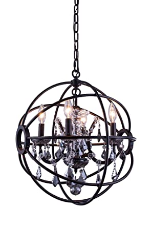 Amazon.com: Elegant Lighting 1130D17DB-SS/RC Geneva ...