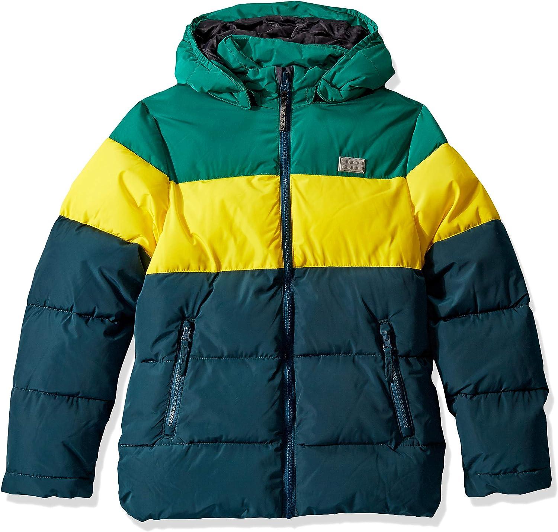 Lego Wear Lego Boy Lwjordan 708-Winterjacke Giacca Bambino 10 Dark Green 875 Taglia Produttore: 110 Multicolore