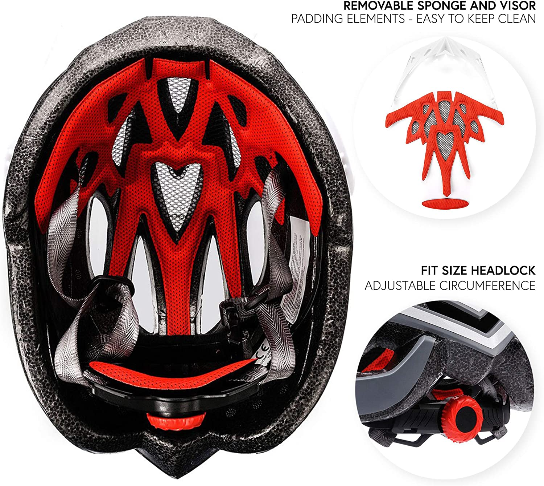 meteor Casco Bicicleta Helmet Bici Ciclismo para J/óvenes y Adulto Bicicleta Patineta Skate Patines Monopatines Bici Accesorios Muchos Patrones Marven El dise/ño Ligero