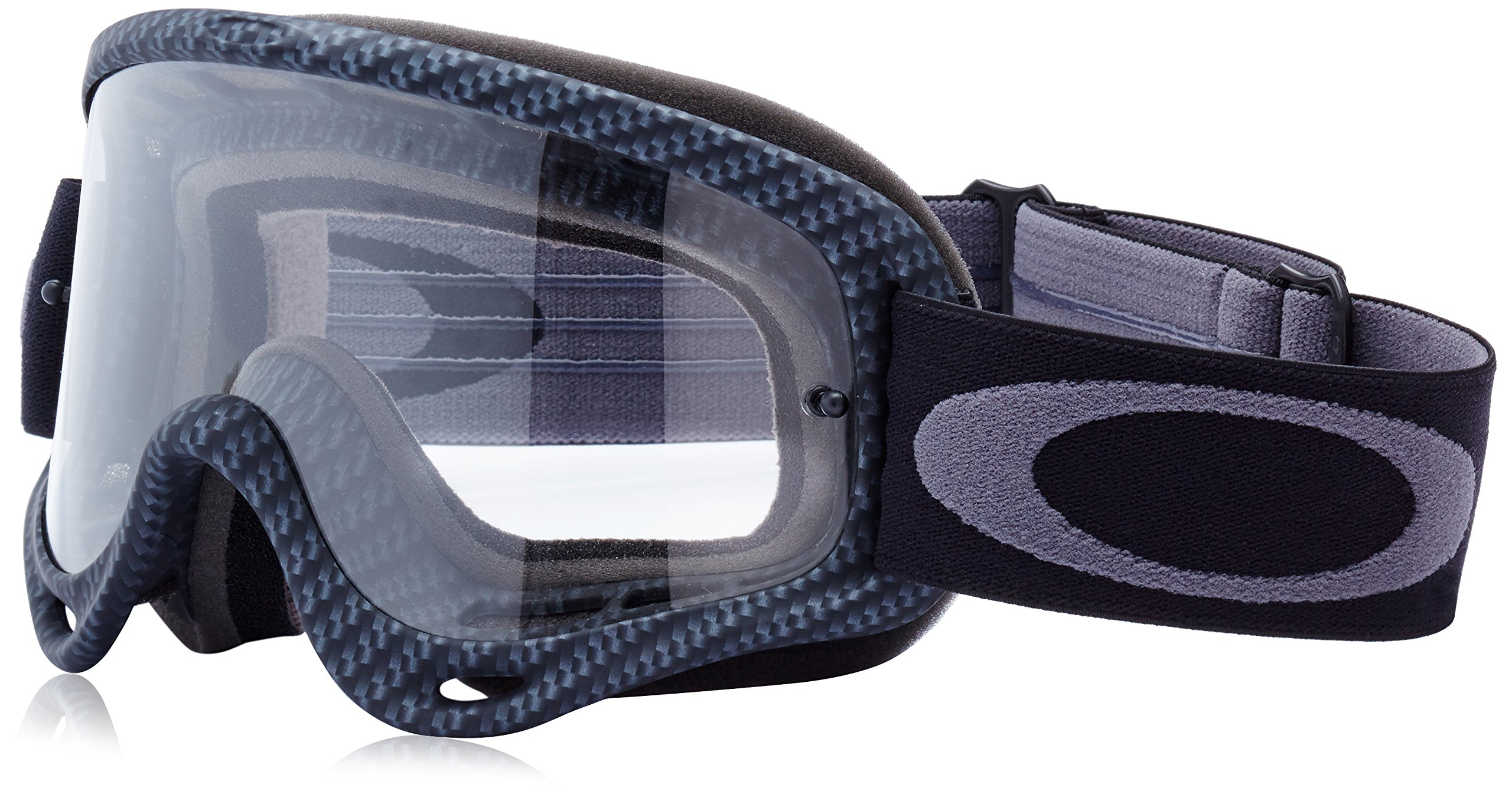 Oakley O-Frame Graphic Frame MX Goggles (True Carbon Fiber/Clear Lens, One Size) by Oakley