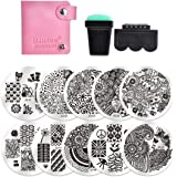 Amazon Com Vaga Nail Art Stamping Kit Jumbo Manicure Image Plate 2 Tropical Holiday This Nail