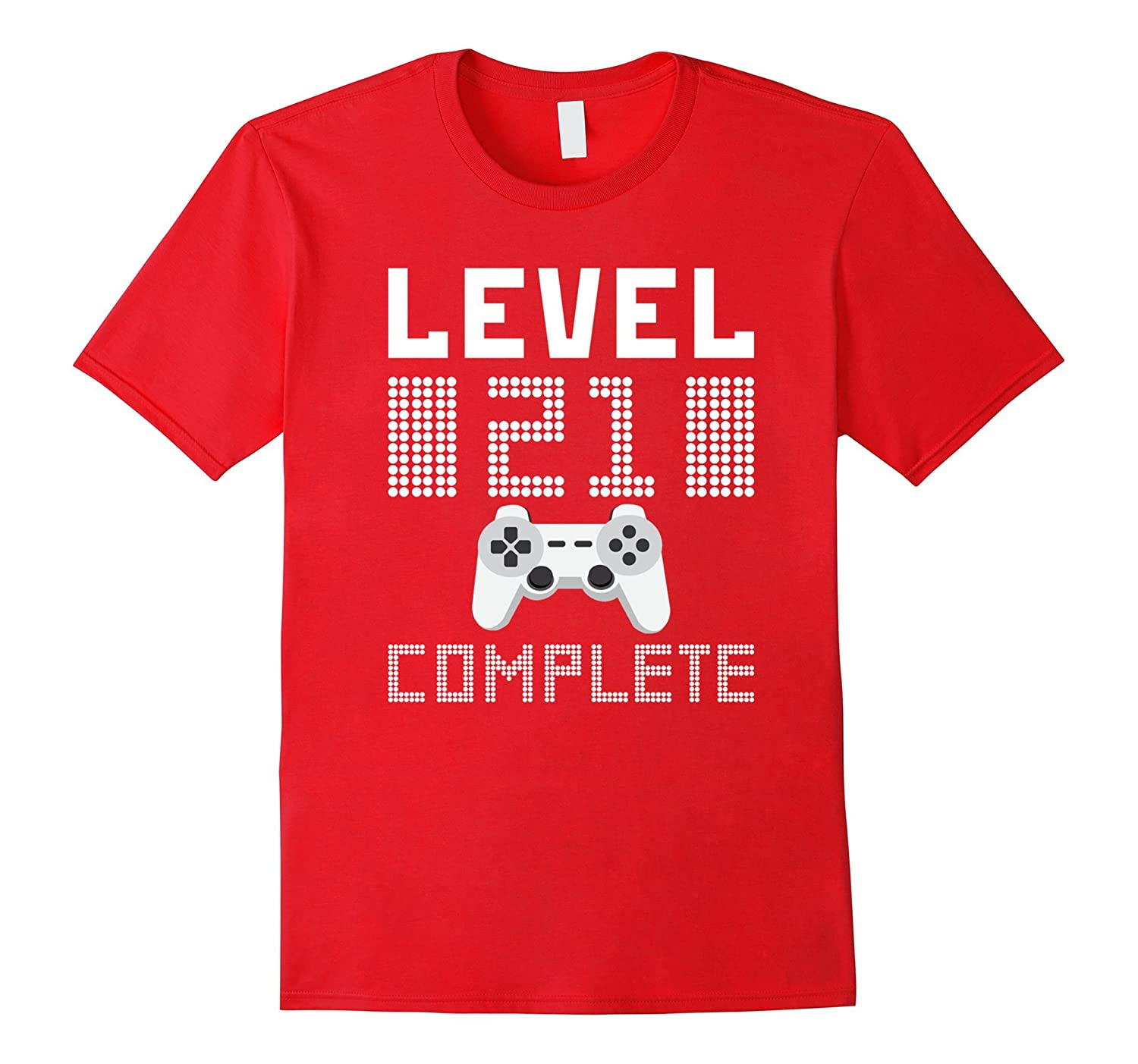 Level 21 Complete Video Gamer Geek 21 Years Old T-Shirt Men