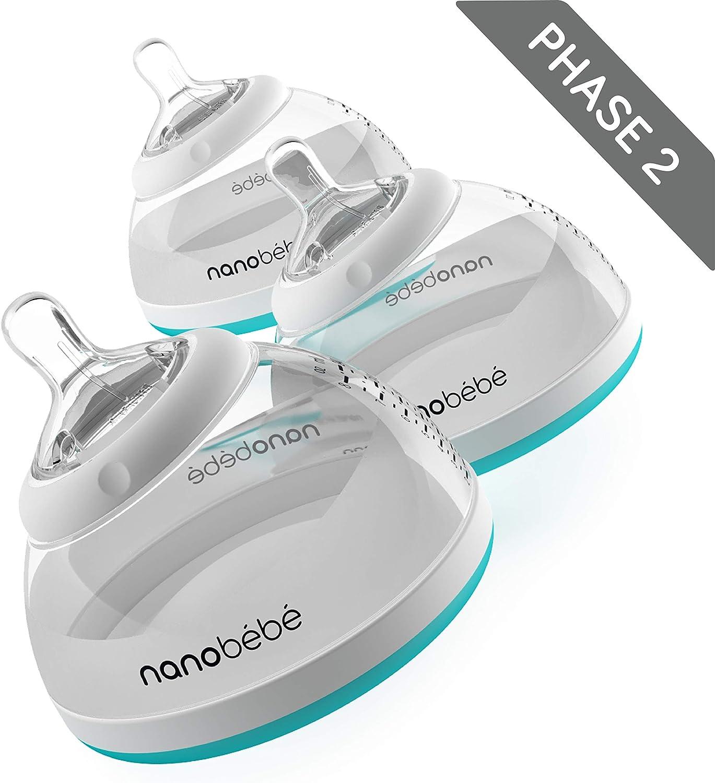 Turquoise 240 ml Nanob/éb/é Bouteille de lait maternel avec syst/ème anti-colique