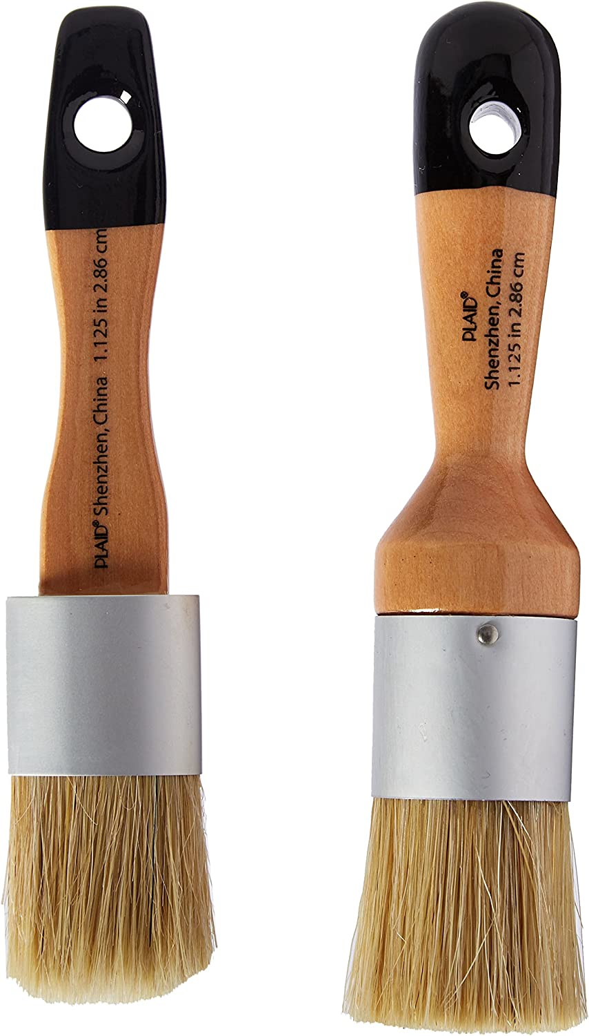 Amazon Com Folkart Home Decor Chalk And Wax Brushes