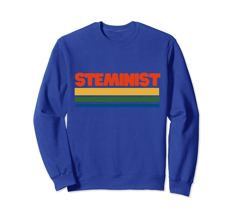 Steminist sweatshirt retro style stem feminist sweatshirts-alottee gift
