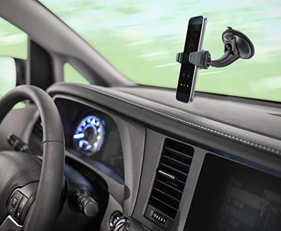 Samsung Adjustable Brackets to Secure Smartphone 360 Degree Rotation /& Multi-Angle Viewing Lenovo 592257 Compatible with iPhone Ventev Car Mount HTC LG Google Heavy Duty Suction Cup Low Profile