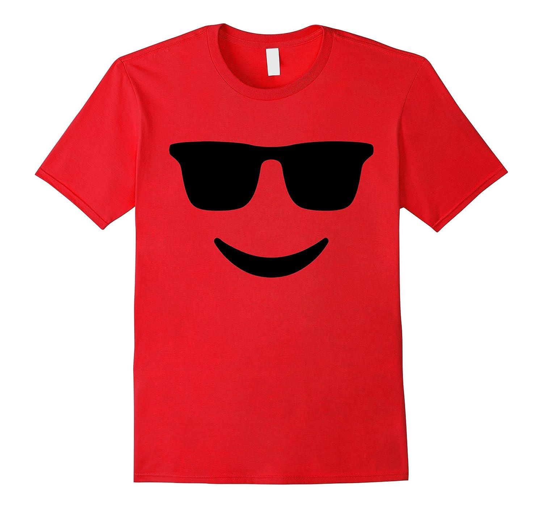 Emoji TShirt With Sunglasses and a Smile T-Shirt-T-Shirt