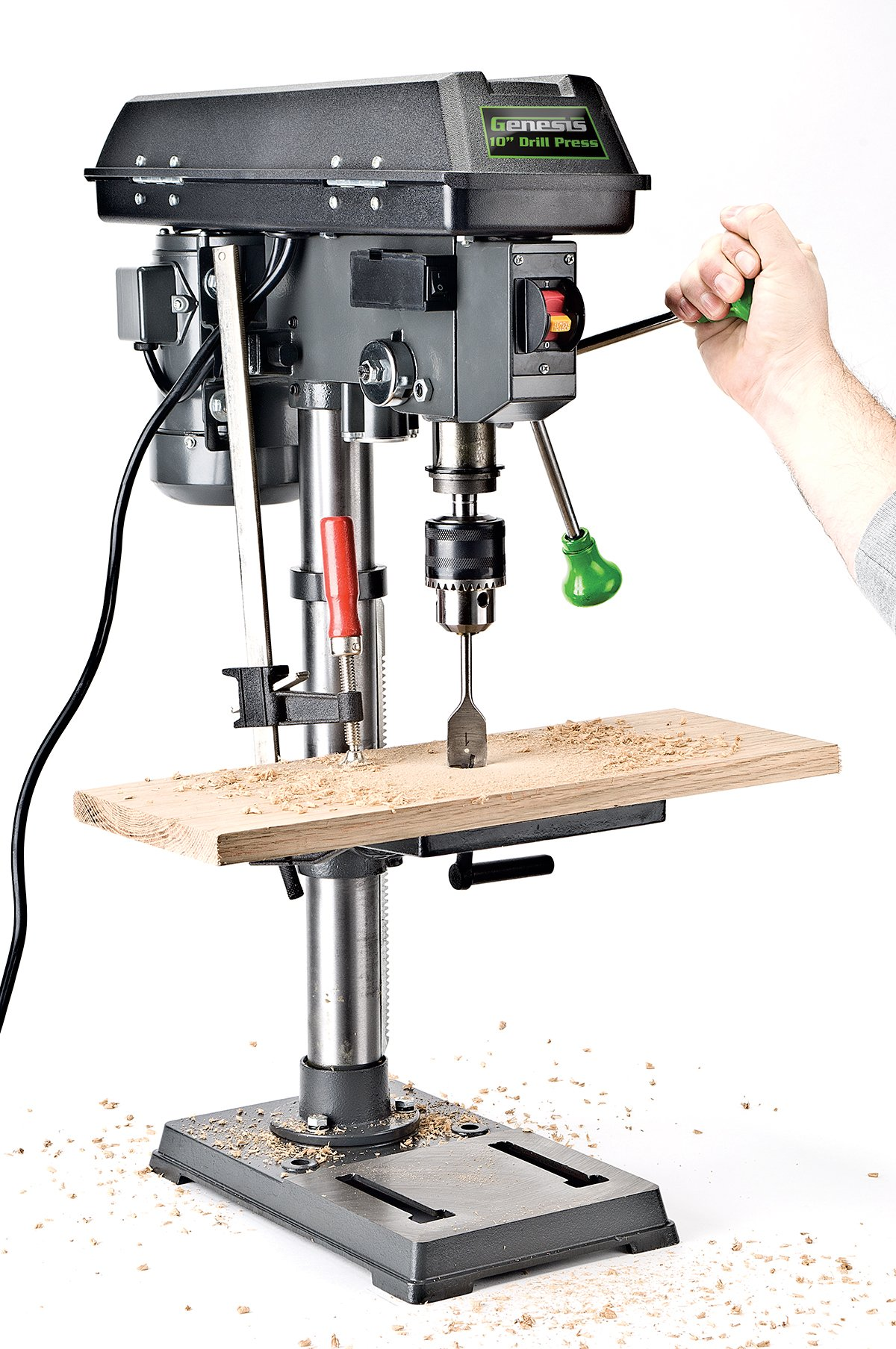 Genesis GDP1005A 10'' 5-Speed 4.1 Amp Drill Press with 5/8'' Chuck, with Integrated work light and Table that Rotates and Tilts by Genesis (Image #2)