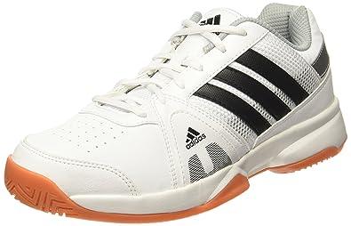 Adidas uomini bianchi / rete setter indoor cnero / silvmt scarpe da tennis 6