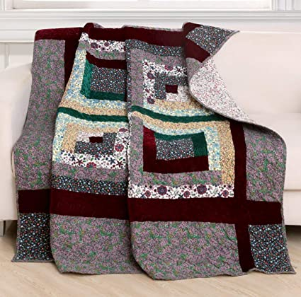 Amazon Finely Stitched Quilted Throw Blanket 40x40 For Bed Cool How To Make A Quilted Throw Blanket