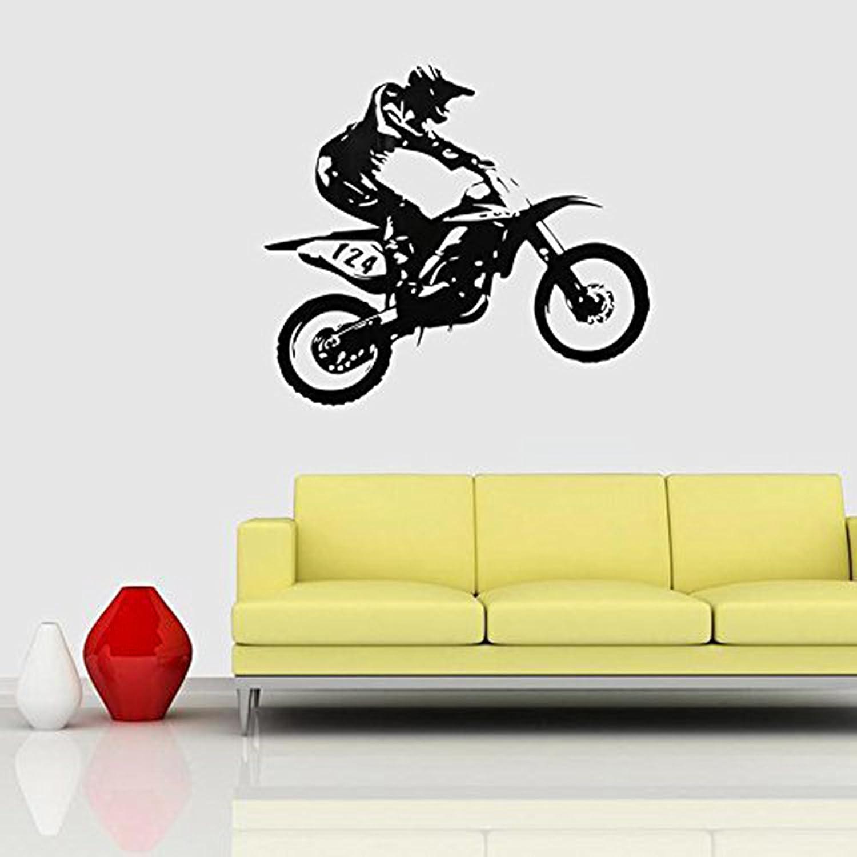 Amazon.com: Yosoo Motor-Racing Wall Sticker Removable PVC Vinyl Art ...
