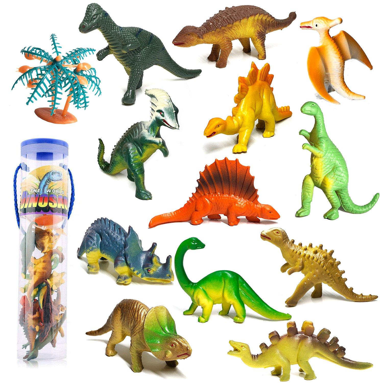 YIMORE Mini Dinosaurier Figuren Set Pädagogisches Realistische Dinos Spielzeug Kunststoff Modell für Kinder, 12ST YOUKEN PLASTIC TOY CO.LTD