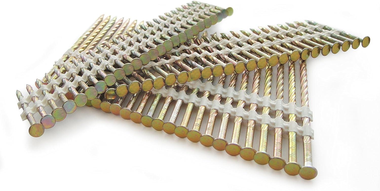 Tacwise Boite de 3300 Clous Galvanis/és 75 mm Tige 3,3 mm Finition /à Vis en Bande