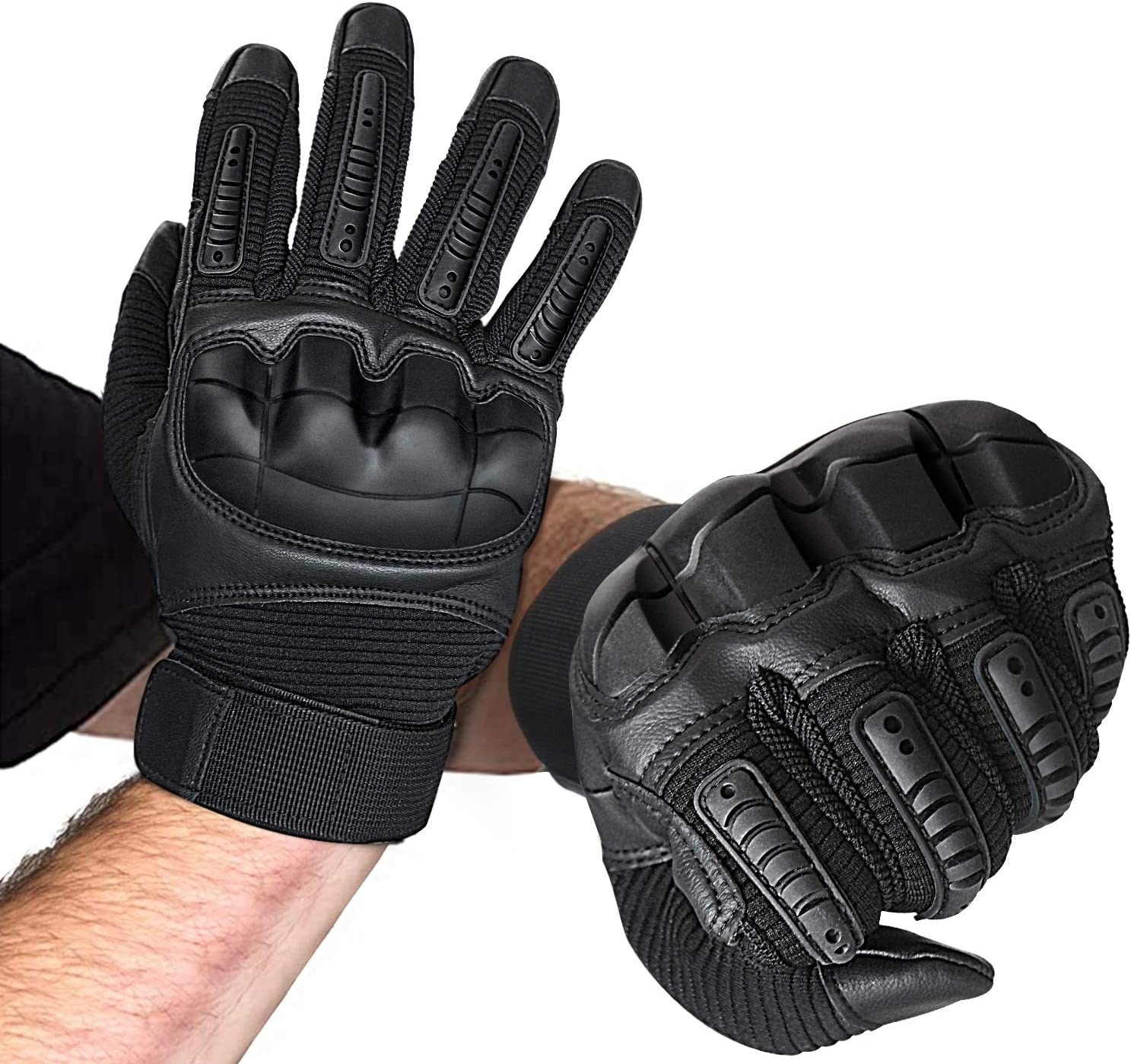 Knuckle Tactical Gloves Men Black Military Gloves Shooting Airsoft Paintball XL