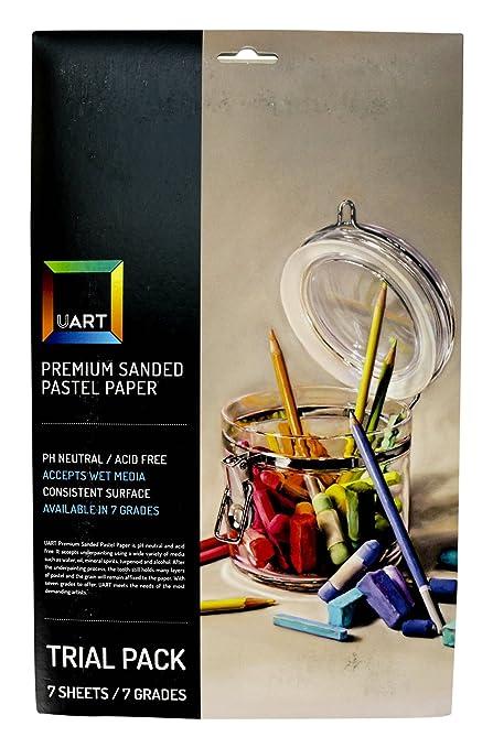 amazon com uart sanded pastel paper p 103697 trial pack