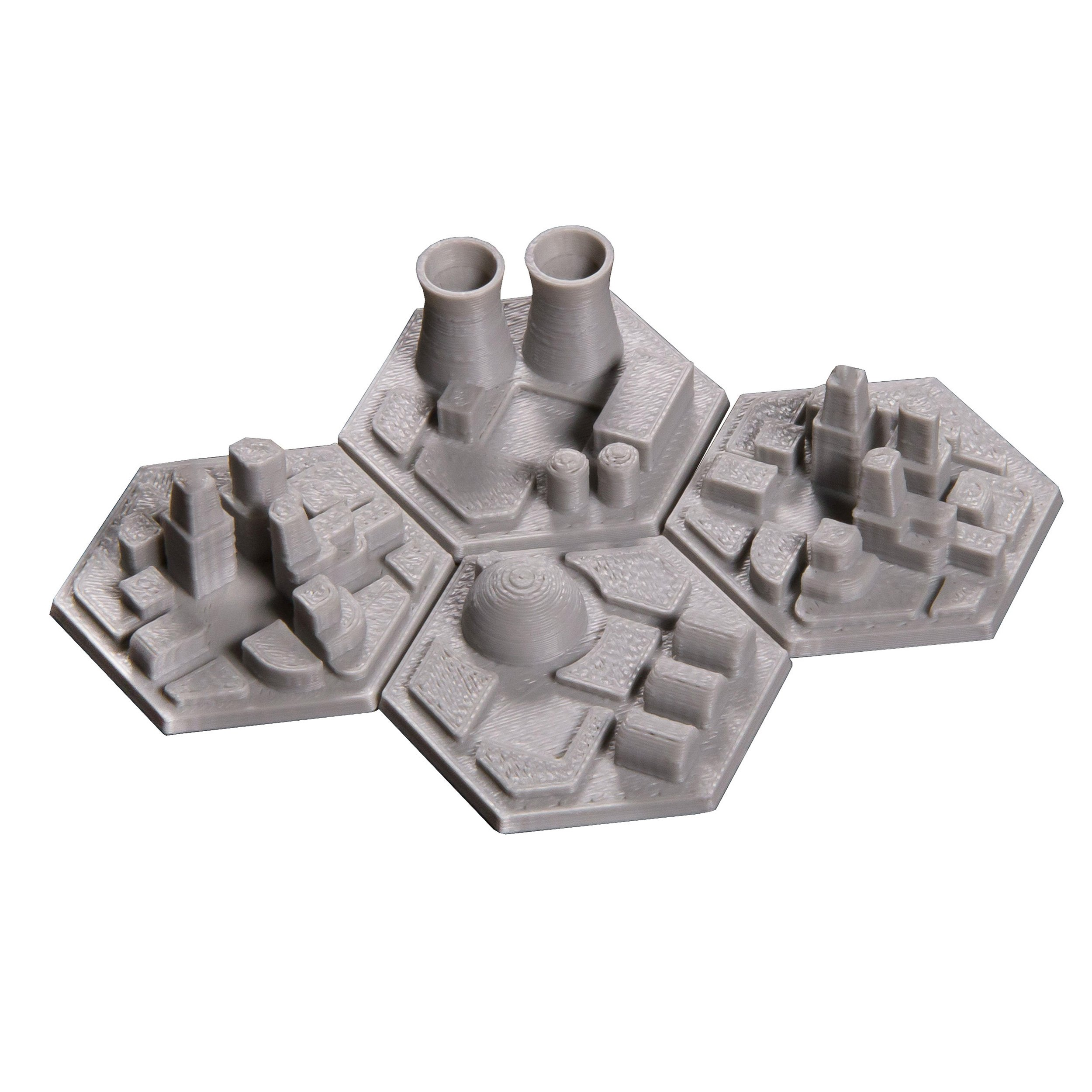 The Broken Token 3D Space Colony Hex Tiles for Terraforming Mars (4)