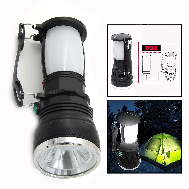 P/êche OFKPO Lanterne Portative USB Rechargeable /à Economie D/énergie Randonn/ée Ext/érieur Camping Lumi/ère et Solar Lumi/ère pour Le Camping