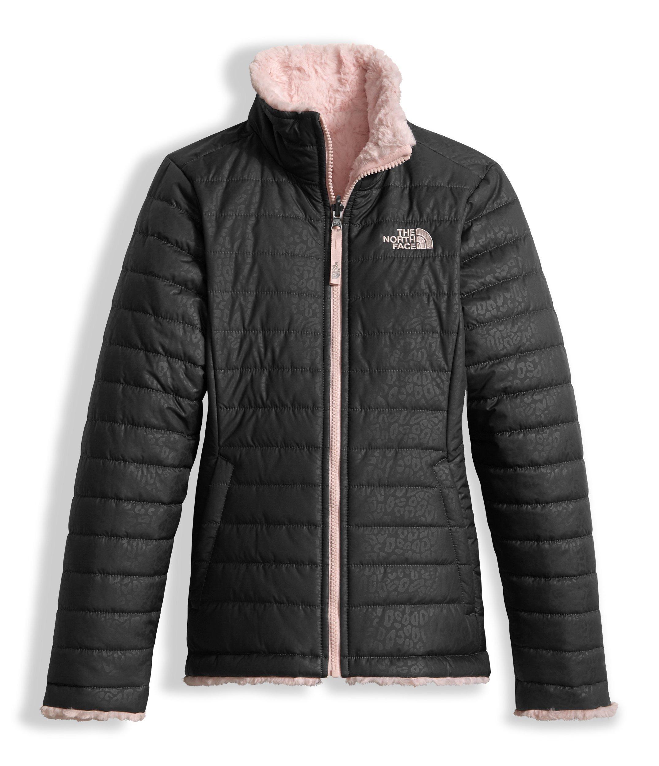 The North Face Girl's Reversible Mossbud Swirl Jacket - Graphite Grey - XS (Past Season)