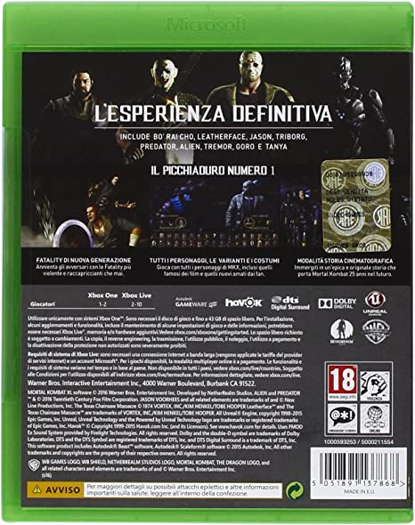 Warner Bros Mortal Kombat XL, Xbox One Básico Xbox One Inglés ...