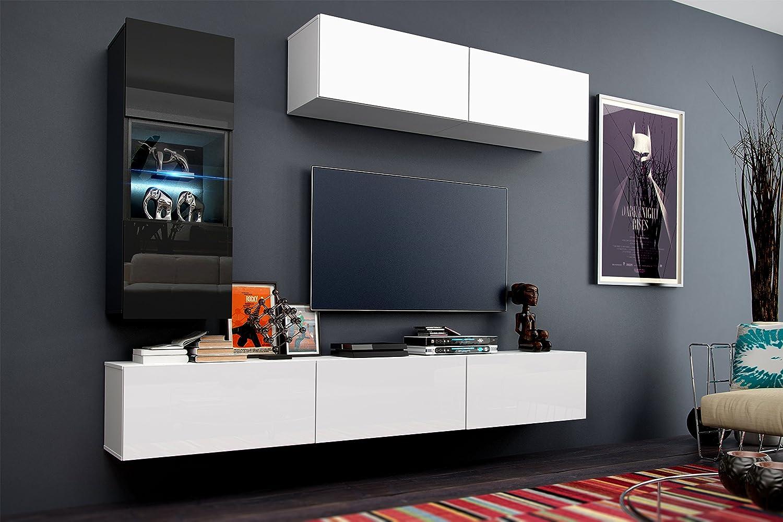 Amazon.de: Zukunft 12 modernes Wohnzimmer Möbel Floating Wohnwand ...