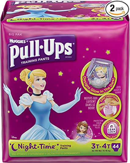 Huggies Pull Ups Night Time Girls Medium 14 Pack