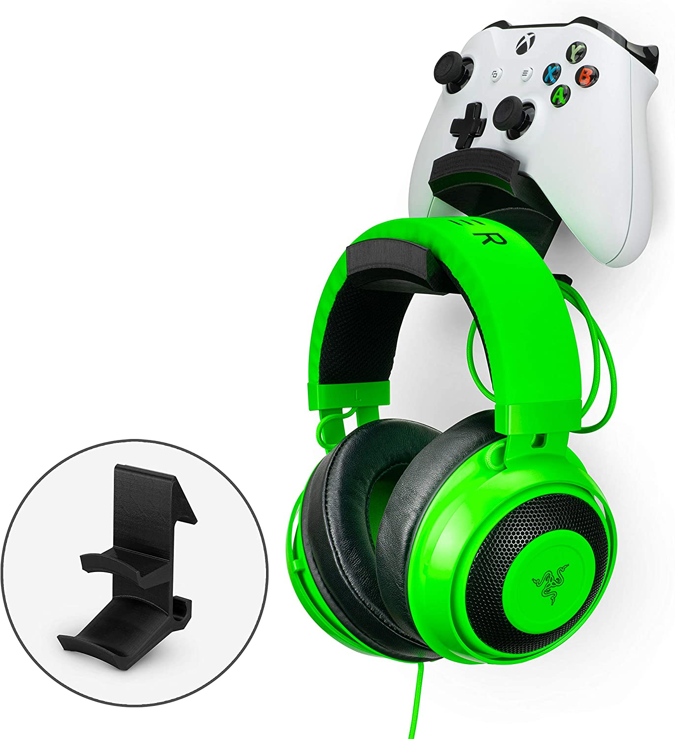 The Colossus - Gamepad Controller & Headphone Hanger Holder - Designed for Xbox ONE, PS4, PS3, Dualshock, Switch, PC, Steelseries, Steam & More by Brainwavz (Black)