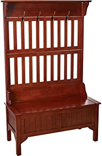 Strange Amazon Com Halstead Entryway Bench And Hall Tree In Antique Theyellowbook Wood Chair Design Ideas Theyellowbookinfo