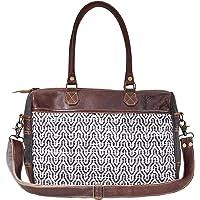Myra Bag Sorrel Upcycled Canvas & Leather Messenger Bag S-1623