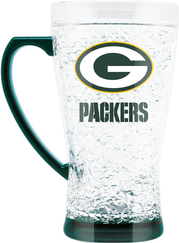 NFL Green Bay Packers 16oz Crystal Freezer Flared Mug