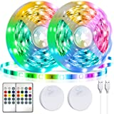LED Strip Lights Battery Powered13.12ft,Tenmiro Led Lights USB Powered for TV,RGB 5050 Color Changing Led Lights,with Remote
