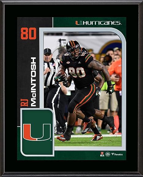 R.J. McIntosh Miami Hurricanes 10.5   x 13   Sublimated Player Plaque -  College 272ccc4dc