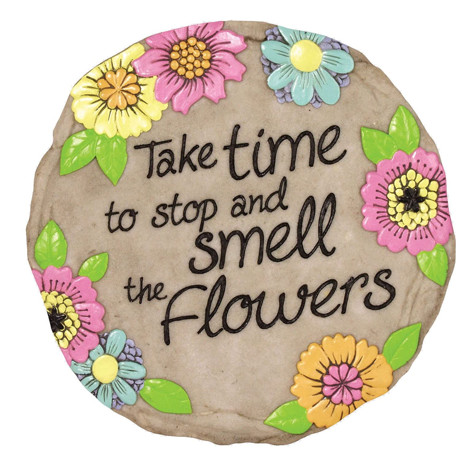 Spoontiques Smell The Flowers Stepping Stone