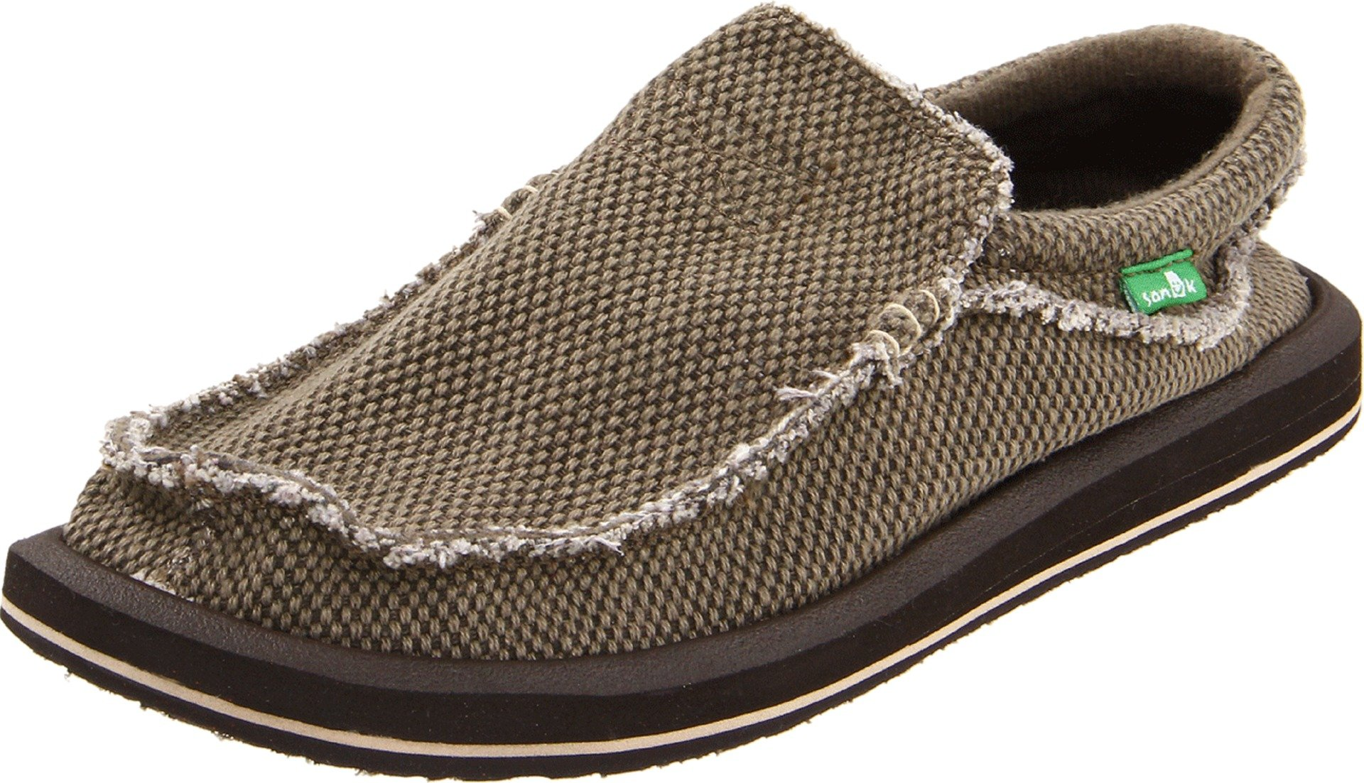 Sanuk Men's Chiba Slip-On, Brown, 11 M US by Sanuk
