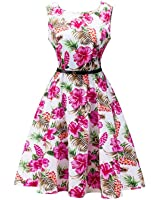 Eloise Isabel Fashion floral imprimir mini dress audrey hepburn 1950 s vintage dress vestido sem mangas