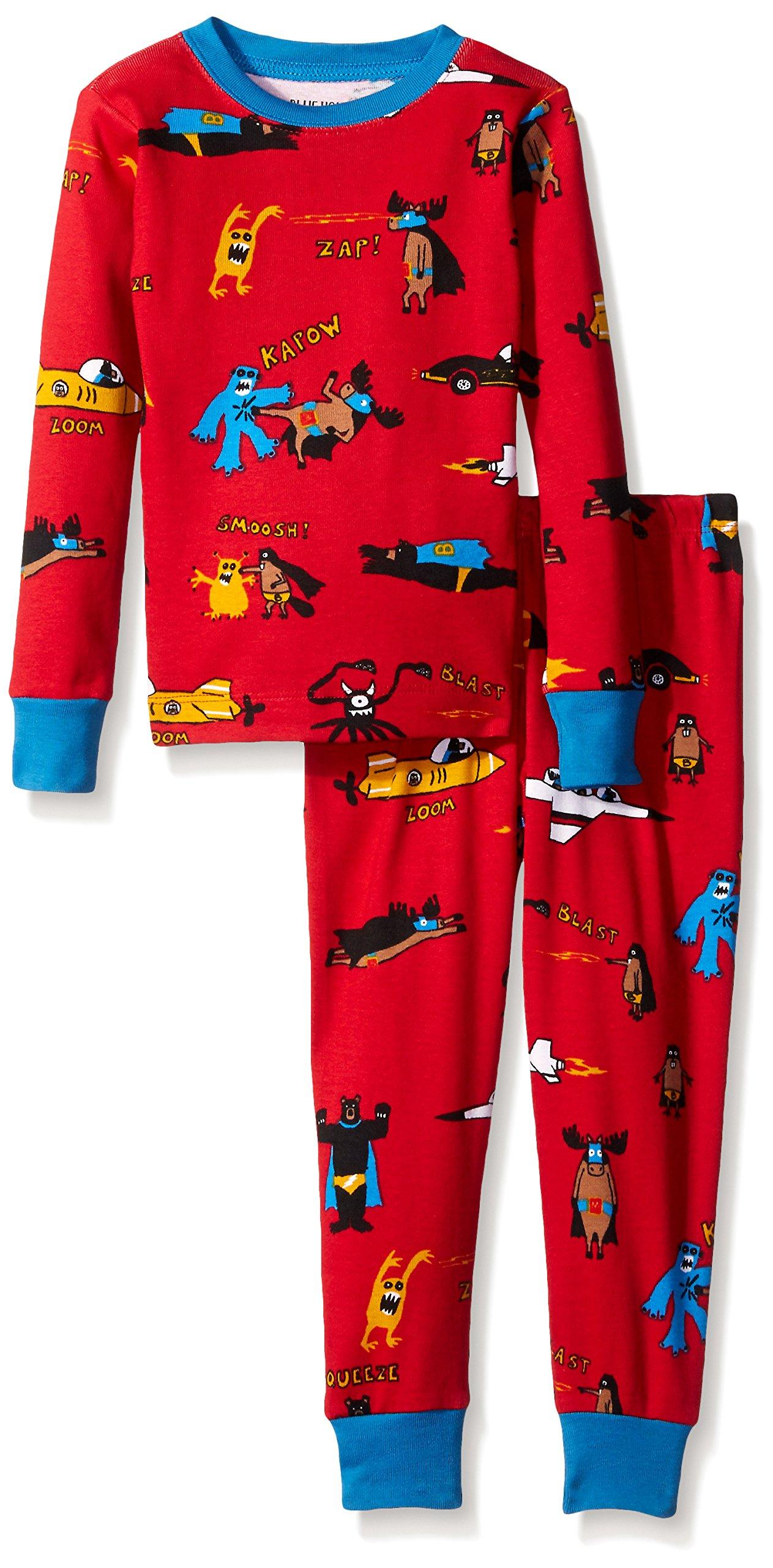 Little Blue House by Hatley Boys' Printed Pajama Set,Super Heros,8
