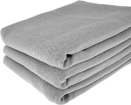 3 gris paños de algodón 100%/70 x 50 cm/Toalla/paños de cocina/ – Toalla/ paño/gris: Amazon.es: Hogar