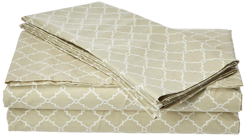 Madison Park Fretwork Printed 100% Cotton Sheet Set Tan Cal King MP20-2366