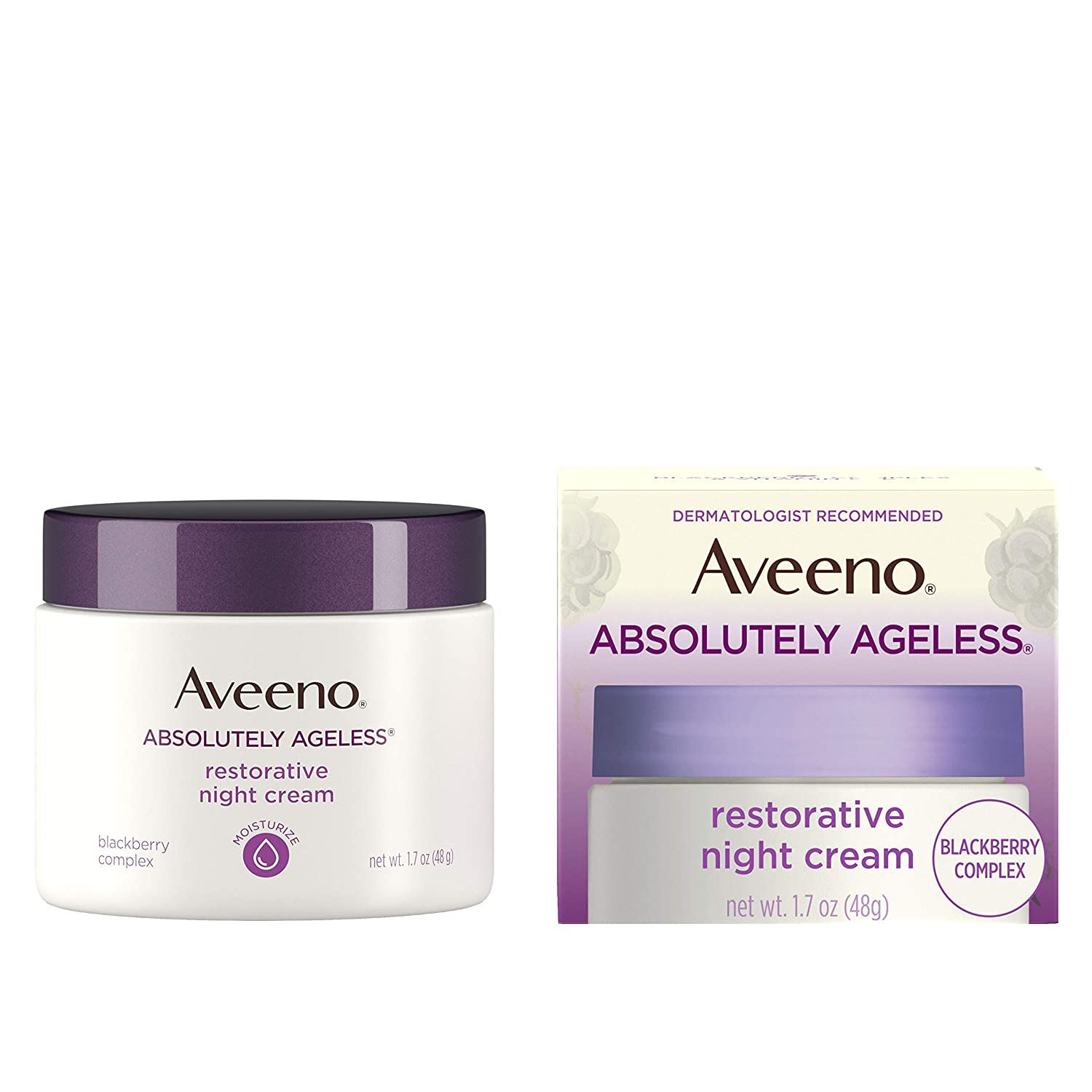 Aveeno Absolutely Ageless Restorative Night Cream Facial Moisturizer