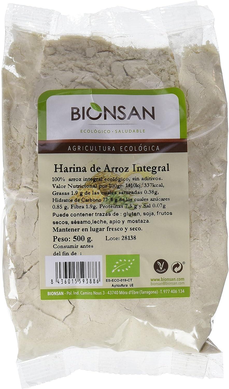 Bionsan Harina de Arroz Integral - 6 Paquetes de 500 gr - Total: 3000 gr